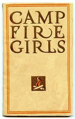 1st Edition 1912 Camp Fire Girls Paperback Manual Book Gulick Doubleday NY