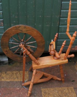 Old Wooden Spinning Wheel For Spares Repair  (2