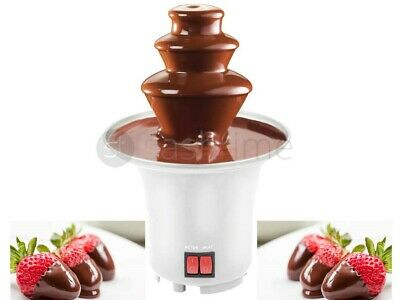 3 Tier Mini Electric Chocolate Fountain Fondue Xmas Party Celebration Hot Melted