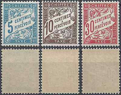 France Timbre Taxe N°28 + N°29 + N°33 Neuf ** Luxe Gomme D'origine Mnh