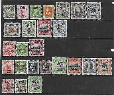 Cook Islands - Aitutaki & Penrhyn  Selection Of Mint & Used 1903/27  Good/fine