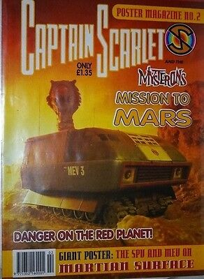 Captain Scarlet And The Mysterons #2 British Poster Magazine 1994
