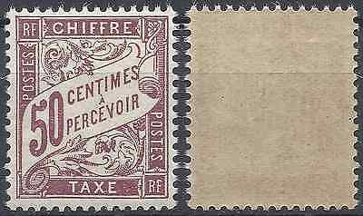 France Timbre Taxe N°37 Neuf ** Luxe Gomme D'origine Mnh