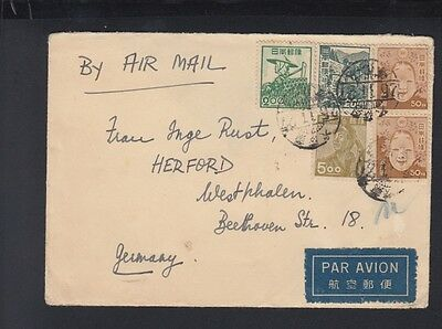 Japan Air Mail Cover to Germany