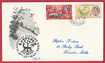 GB - Nature Week on illustrated FDC with Hounslow p/mark 16 MY 63 to Kingston