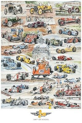 100TH Running 2016 Indianapolis 500 Event Collector Anniversary Poster