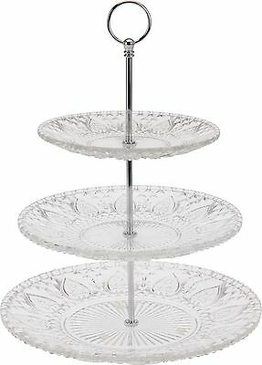 2 Or 3 Tier Glass Cake Stand Wedding Centrepiece Clear Design Serving Display