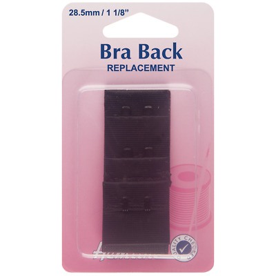 Hemline - Bra Back Replacement: Black 28.5mm