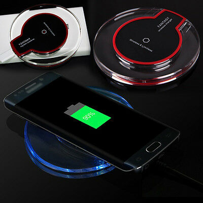 Slim Qi Wireless Power Charger Fast Charging Pad W/Charging Receiver for Phone