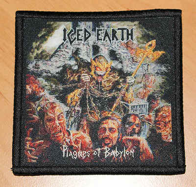 """ICED EARTH """"PLAGUES OF BABYLON"""" silk screen PATCH"""