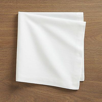 , Pack of 10 Plain White180 Thread Count Napkins - 50% Polyester & 50% Cotton