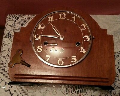 Vintage Chiming Mantle Clock HALLER Mechanism  5 chime and Hammer chime