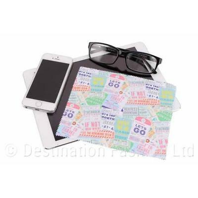 Adventure Awaits Microfibre Cloth Reusable Lens Computer Screen Glasses Cleaner