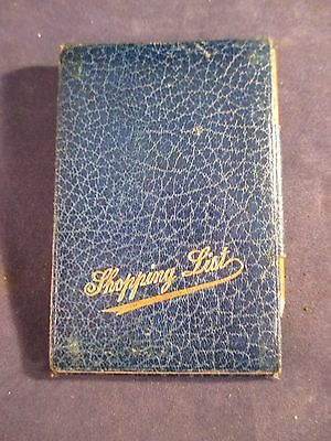Vintage 1925 Shopping List Note Pad Booklet With Tiny Pencil And Mirror