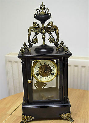 antique crystal regulator 4 glass  clock