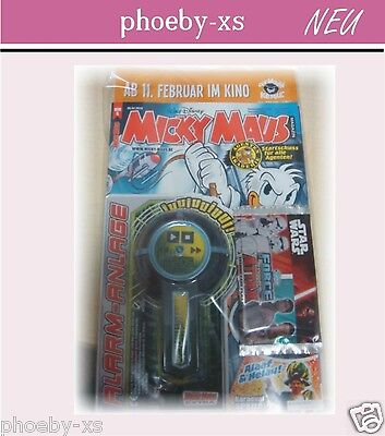 MICKY MAUS Magazin Nr.6*5.02.2016 + ALARM ANLAGE + Star Wars Trading Card Comic