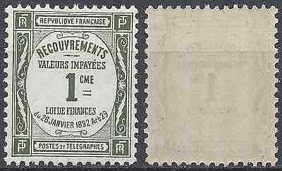 France Timbre Taxe N°43 Neuf ** Luxe Gomme D'origine Mnh