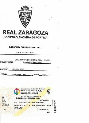 Programme & Ticket Real Zaragoza v Chelsea European Cup Winners' Cup sf 1994/95