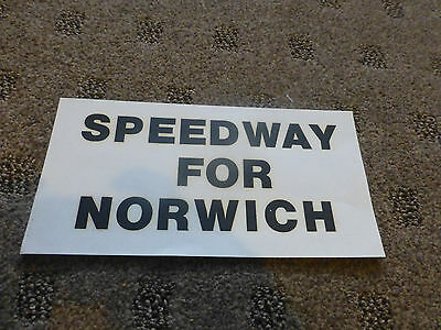 Speedway For Norwich 1970S Flyer  Black/white