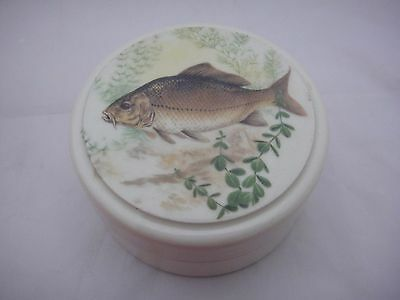 Classic Gentleman's Relish Stoneware Pot With Fish Design