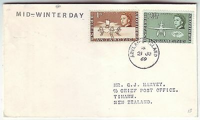 BRITISH ANTARCTIC TERRITORY 1969 *MID-WINTER DAY* cover with ADELAIDE ISLAND cd