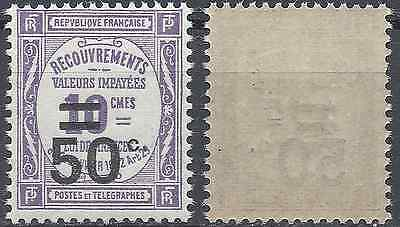 France Timbre Taxe N°51 Neuf ** Luxe Gomme D'origine Mnh