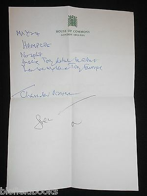 Handwritten Letter - Labour MP and Leader Michael Foot on House of Commons Paper