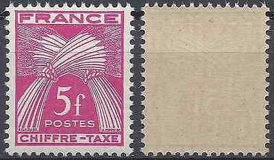 France Timbre Taxe N°75 Neuf ** Luxe Gomme D'origine Mnh