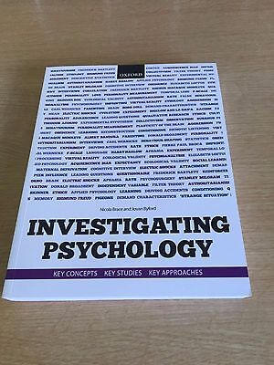 Investigating Psychology By Nicola Brace and Jovan Byford An open university boo
