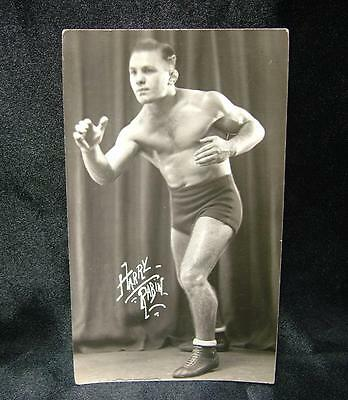Old Boxing Real Photograph Postcard Harry Rabin - Lot 44