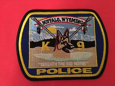 Buffalo Wyoming K-9 Police  Shoulder Patch   L@@k At My Patch Store