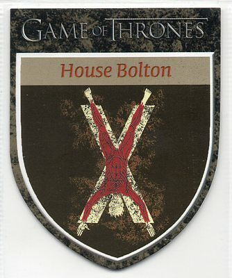 Game of Thrones Season 5 (2016) Die-Cut Shield Trading Card Insert H12