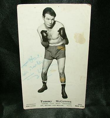GENUINE SIGNED AUTOGRAPHED BOXING PHOTOGRAPH TOMMY McGOVERN - LOT 62