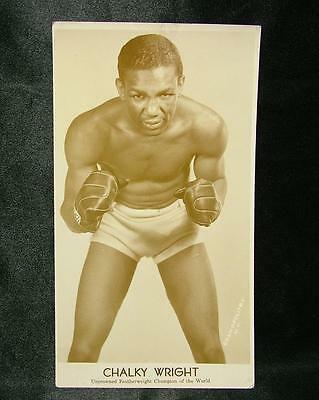 Vintage Boxing Photo Black Boxer Chalky Wright Feathrweight Champ - Lot 88