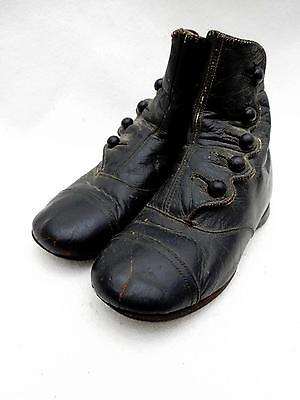 Absolutely Gorgeous Antique High Button Leather Shoes SMALL Child's Size