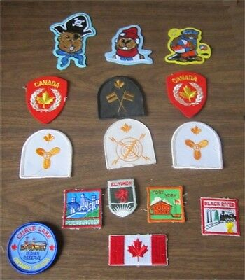 15 Canadian Theme Patches Mostly New Some Used Some Beaver Scouts