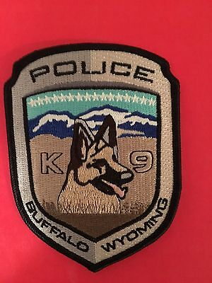 Buffalo Wyoming K-9 Police  Patch   L@@k At My Patch Store