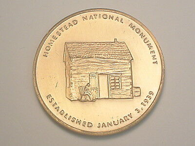 (Beatrice, NE) Pictorial Medal - Homestead National Monument