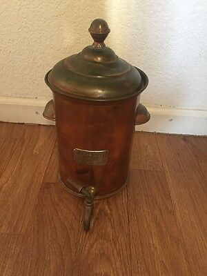 Vintage Majestic metal Water tank with faucet 1 1/2 Gal