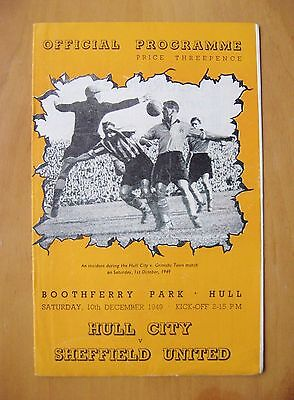 HULL CITY v SHEFFIELD UNITED 1949/1950 *Excellent Condition Football Programme*