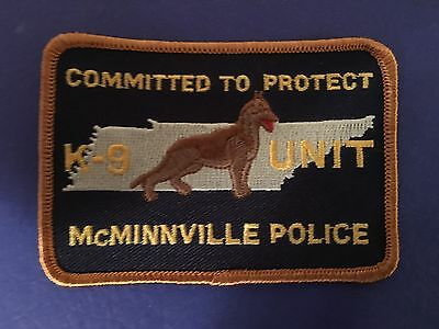McMINNVILLE TENNESSEE POLICE K-9 UNIT SHOULDER PATCH