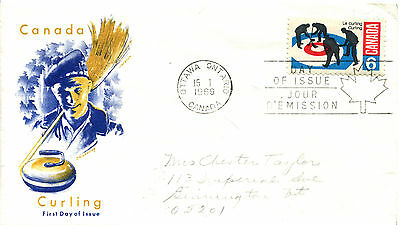 Canada 490  Curling  Jackson cachet First Day Cover