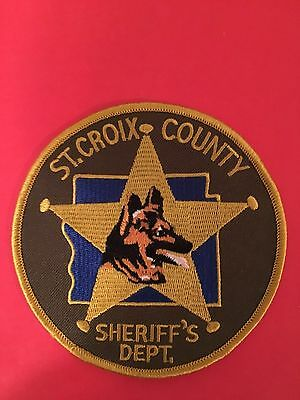 St. Croix Wiscosin Sheriff Dept K-9   Shoulder Patch