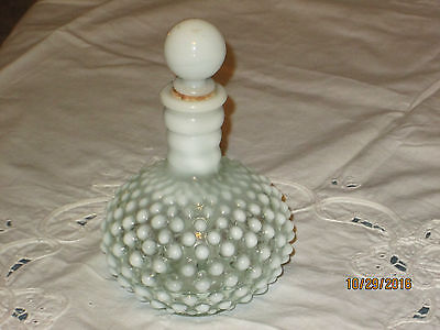 Hobnail Decorative Fenton Perfume BOTTLE with Stopper Vanity Collectible NICE