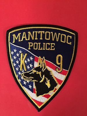 Manitowoc Wisconsin Police  K-9 Shoulder Patch
