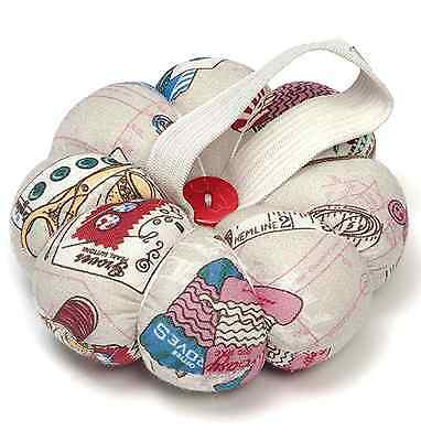 HobbyGift Wrist Pin Cushion with Elastic. Padded flower shape Notions Pattern