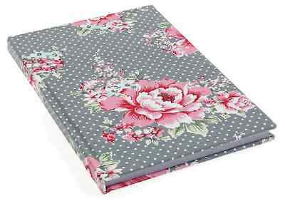 Fabric Covered Crafters Notebook Size A5 Lined Pages - Beautiful Bloom