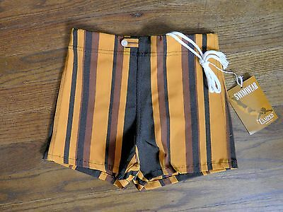 Campus Swim Trunks Mad Sz 14 Waist 27 Men Vtg Surfer 60s NWT Orange Hot Pants