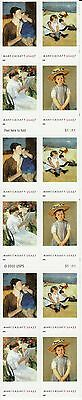 Mary Cassatt American Treasures Stamp Booklet --  Usa #3804-#3807 37 Cent 2003