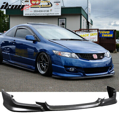 09-11 Honda Civic 2Dr Coupe HFP HF-P Style Front Bumper Lip - Urethane PU